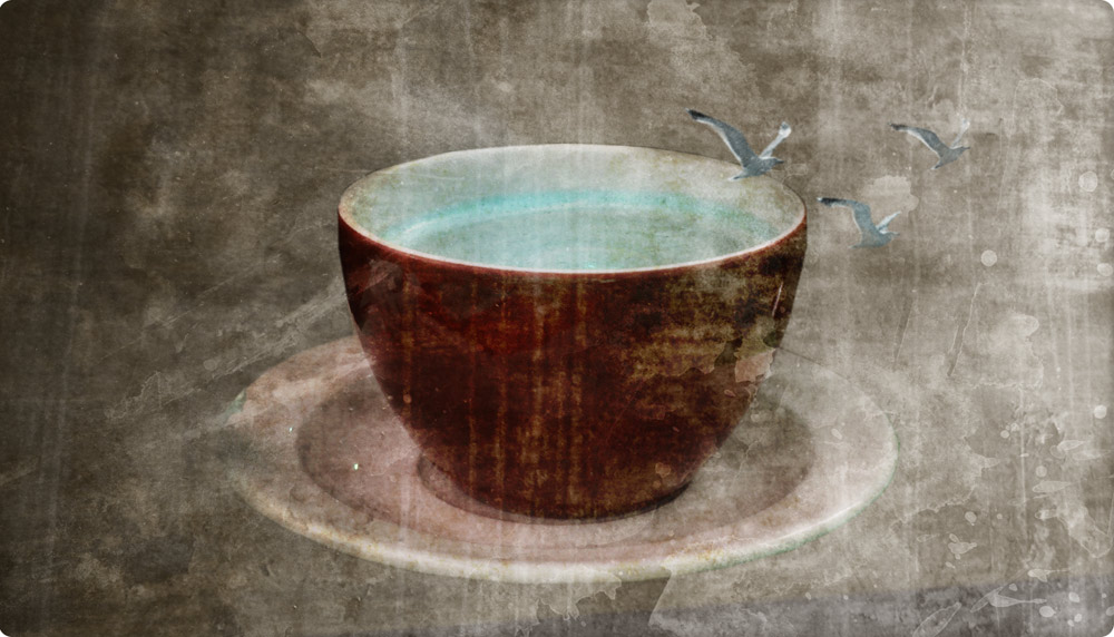 One Cup of Fresh Sea-Water (In Rusty Cup)