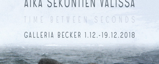 Galleria Becker 1.–19.12.2018 Aika sekuntien välissä / Time between seconds